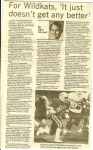 Editorial article by sports editor Dave Kitchell about how the Kats football team outscored their sectional opponents 11