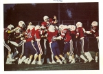 The 1985 Kats football 'team of the century' gets pumped up before a home game (opening page of the 1986 Sargasso year