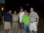 Tom Ashburn, Chris Clawson, Matt Arnold, Kevin Snyder and Mike Elkin kick-off the reunion weekend with a little preparty