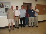 Mike Elkin, Tom Ashburn, Matt Arnold, Robert Abney, John York & Bill Bradley hang out in their 'old' favorite spot in