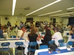 Picture of the KHS cafeteria as the KHS Class of '86 begins dinner at the 20th class reunion.