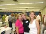Bridget Hynds (Bain), Ann Hayes (Mickelson) & Mary Beth Simmons (Busby) stop for a quick photo while catching up with ea