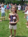 And the 1st place prize for the hula-hoop contest goes to.....Kamry Snyder (Kevin Snyder's daughter).