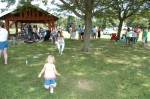 Joann Fligor (Daly) and her daughter having fun at the reunion family picnic.