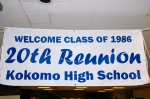 Welcome reunion banner.