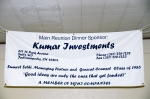 Banner for Kumar Investments (Sumeet Sethi) which was our main reunion dinner sponsor. Thank you Sumeet!